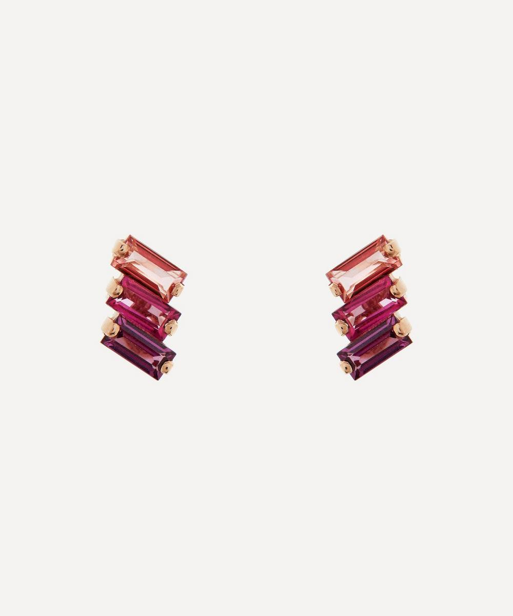 Suzanne Kalan - Rose Gold Multi-Stone Stud Earrings