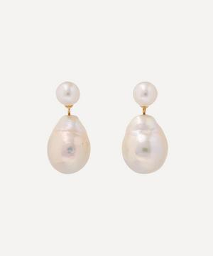 Gold Baroque Pearl Drop Earrings
