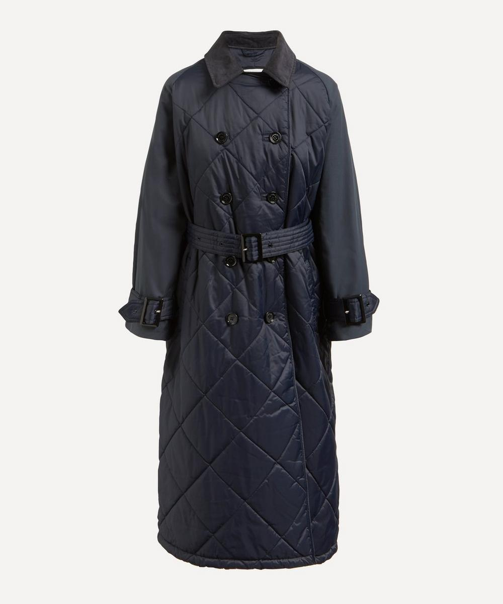 Barbour - Barbour by ALEXACHUNG Delia Long Quilted Trench Coat