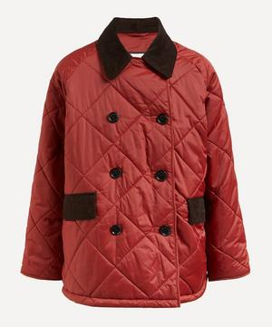 Barbour by ALEXACHUNG Delia Long Quilted Trench Coat