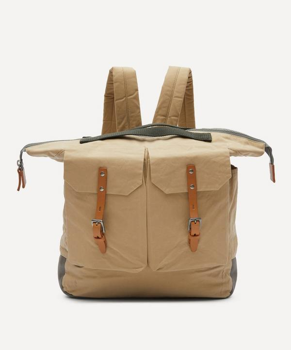 Ally Capellino - Frank Large Waxed Cotton Backpack