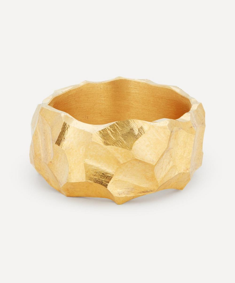 All Blues - Gold Plated Vermeil Silver Rauk Narrow Ring