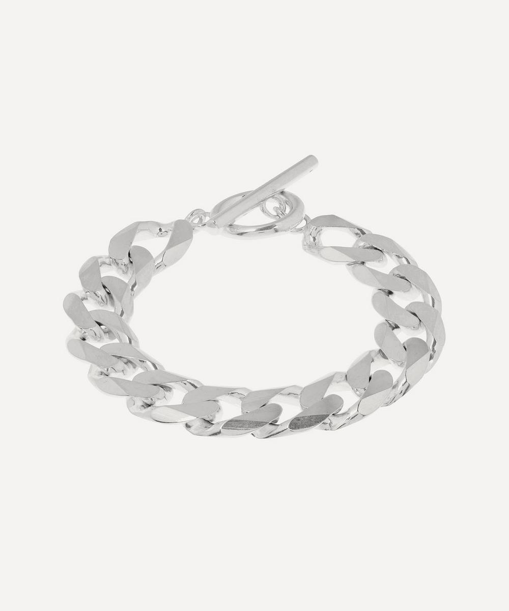 All Blues - Polished Sterling Silver Moto Bracelet