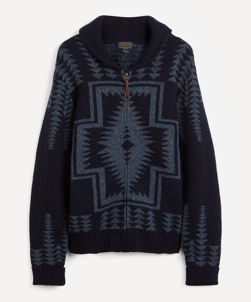Pendleton - Harding Zip-Up Shetland Wool Cardigan