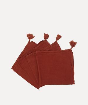 Rosa Linen Napkins Set of Four