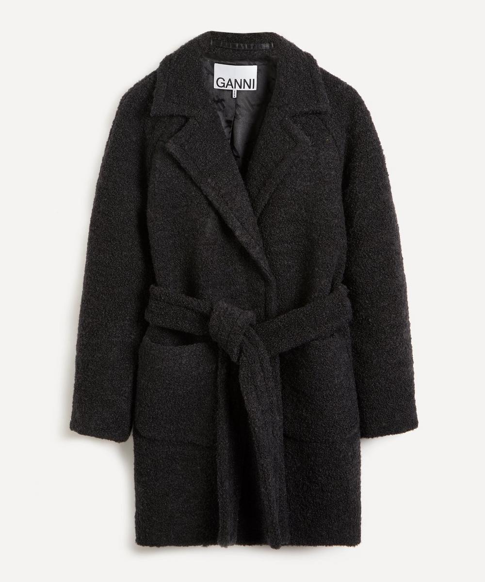 Ganni - Bouclé Wool-Blend Wrap-Coat