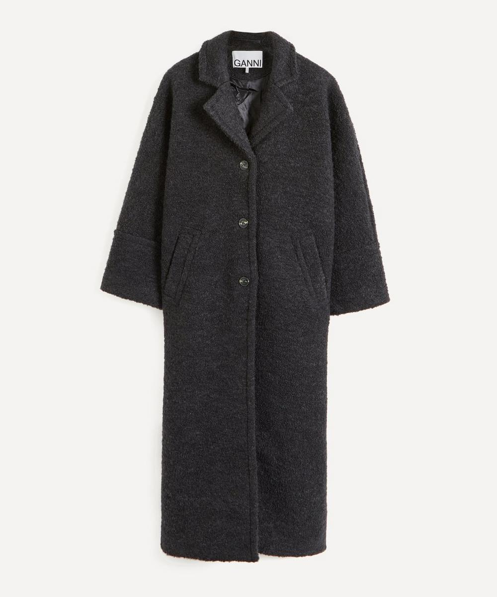Ganni - Bouclé Wool-Blend Overcoat