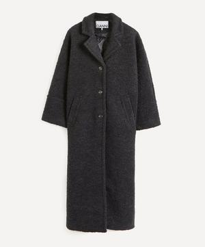 Bouclé Wool-Blend Overcoat
