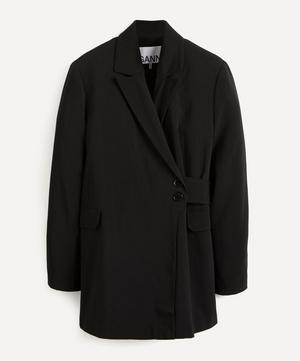 Melange Wrap-Around Blazer Jacket