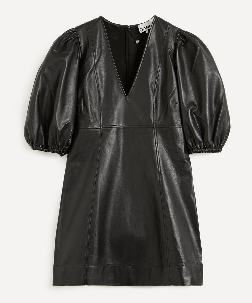 Ganni - Lamb Leather Mini-Dress