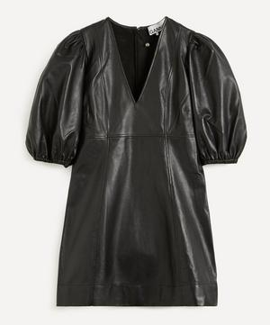 Lamb Leather Mini-Dress