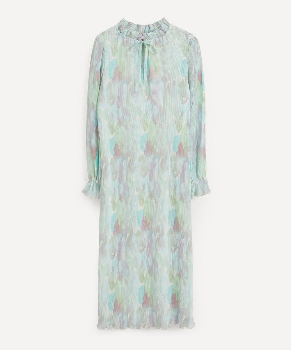 Ganni - Pleated Georgette Maxi-Dress