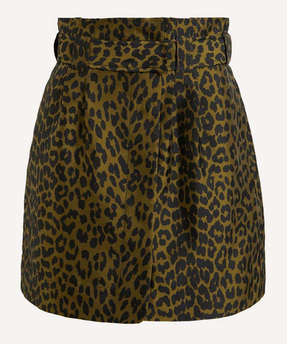 Ganni - Leopard Crispy Jacquard Mini-Skirt