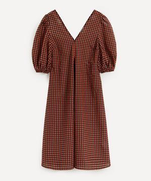 Check Seersucker Maxi-Dress