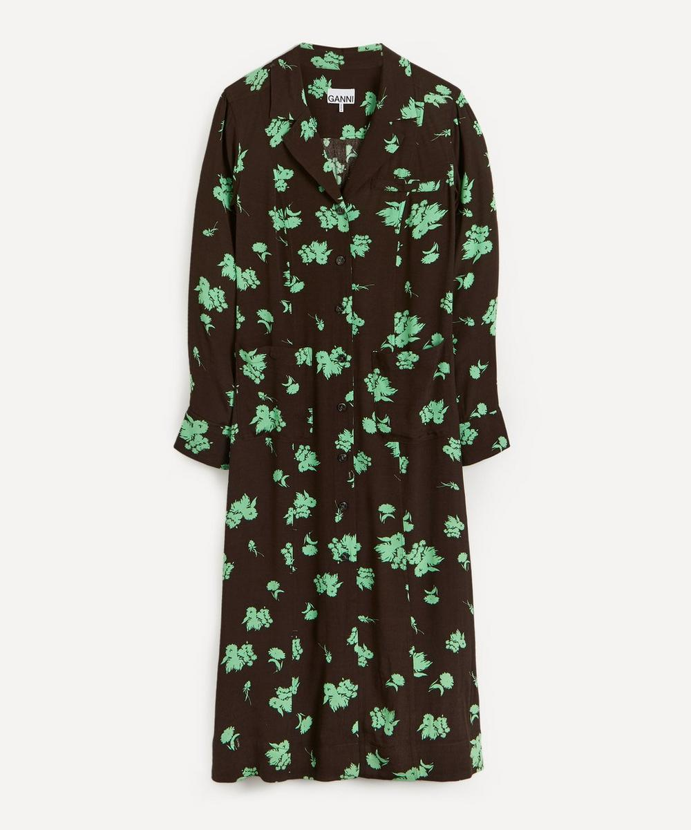 Ganni - Tailored Floral Eco Shirt-Dress