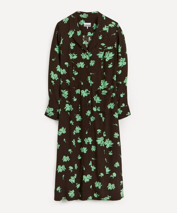 Ganni - Tailored Floral Eco Shirt-Dress