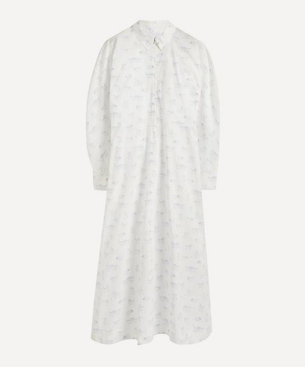Ganni - Kitten Print Organic Cotton Maxi-Dress