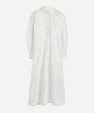 Kitten Print Organic Cotton Maxi-Dress