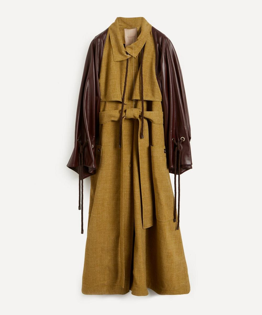 Roksanda - Nova Tweed and Vegan Leather Coat
