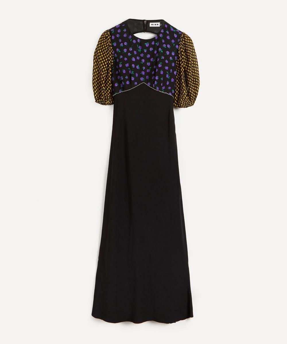 RIXO - Delilah Cap-Sleeve Floral Print Dress