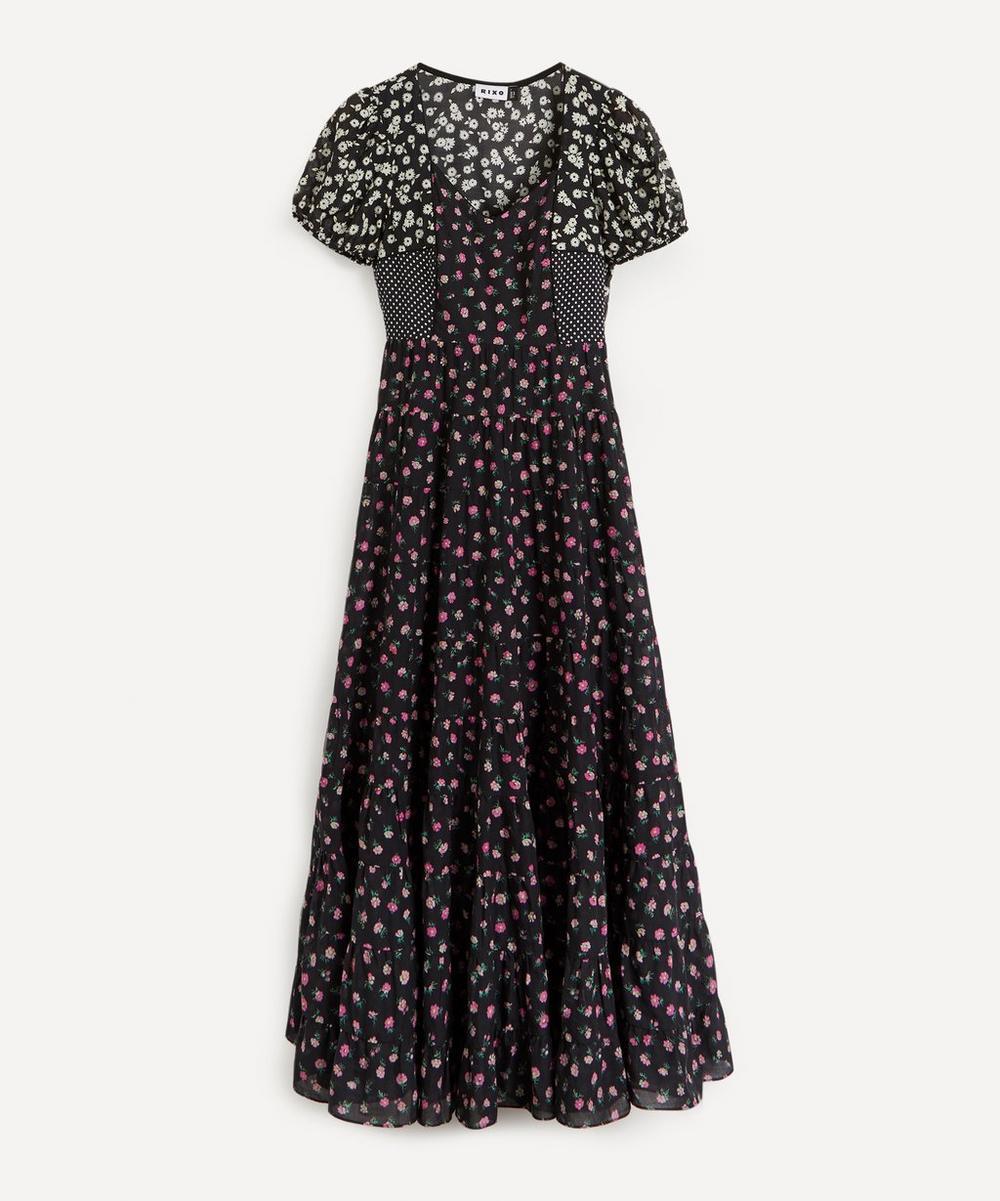 RIXO - Tamara Cap-Sleeve Cotton Dress