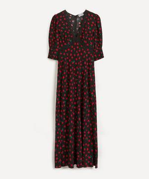 Gemma Vintage Rose Midi-Dress