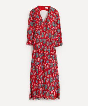 Nadine Silk V-Neck Maxi-Dress