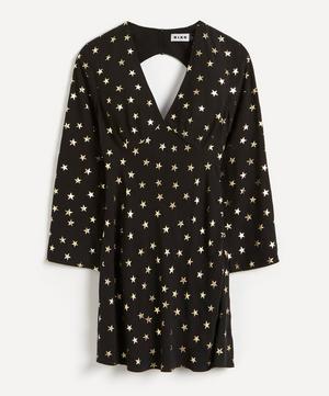 Sophie Foil Star Silk Mini-Dress
