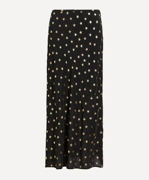 Kelly Foil Star Silk Slip Skirt