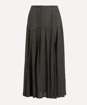 Claire Polka-Dot Silk-Cotton Skirt