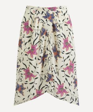 Omaly Gathered Floral Skirt