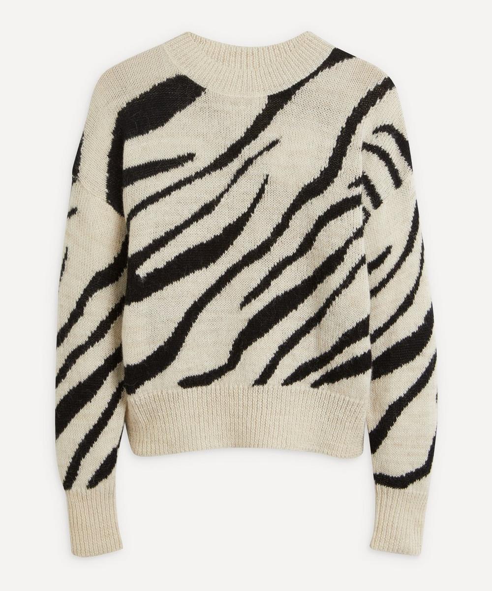 Isabel Marant Étoile - Genna Zebra-Print Alpaca-Blend Sweater