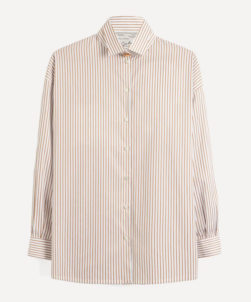Giuliva Heritage Collection - Oversized Stripe Cotton Shirt