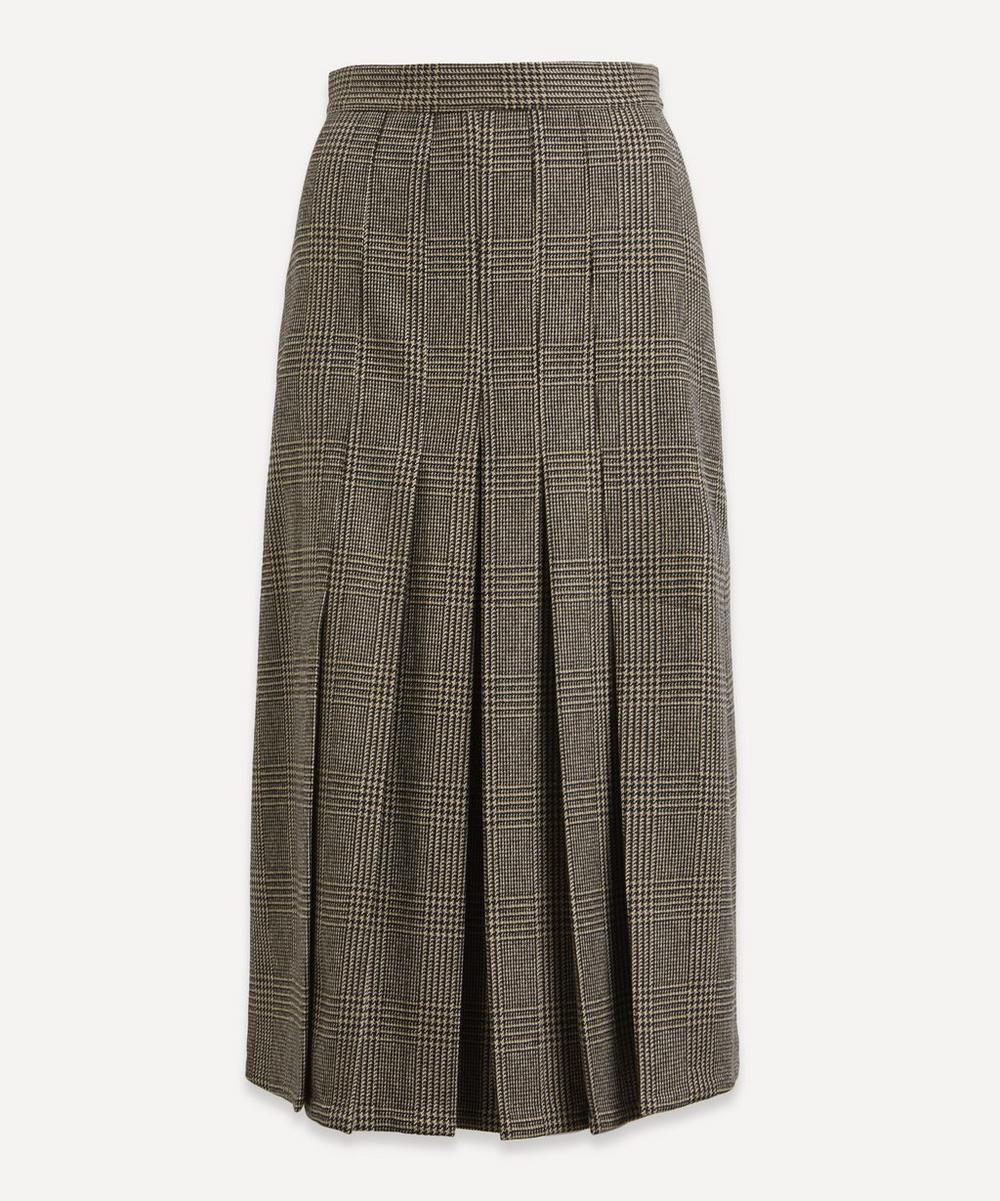 Giuliva Heritage Collection - Check Wool Midi-Skirt
