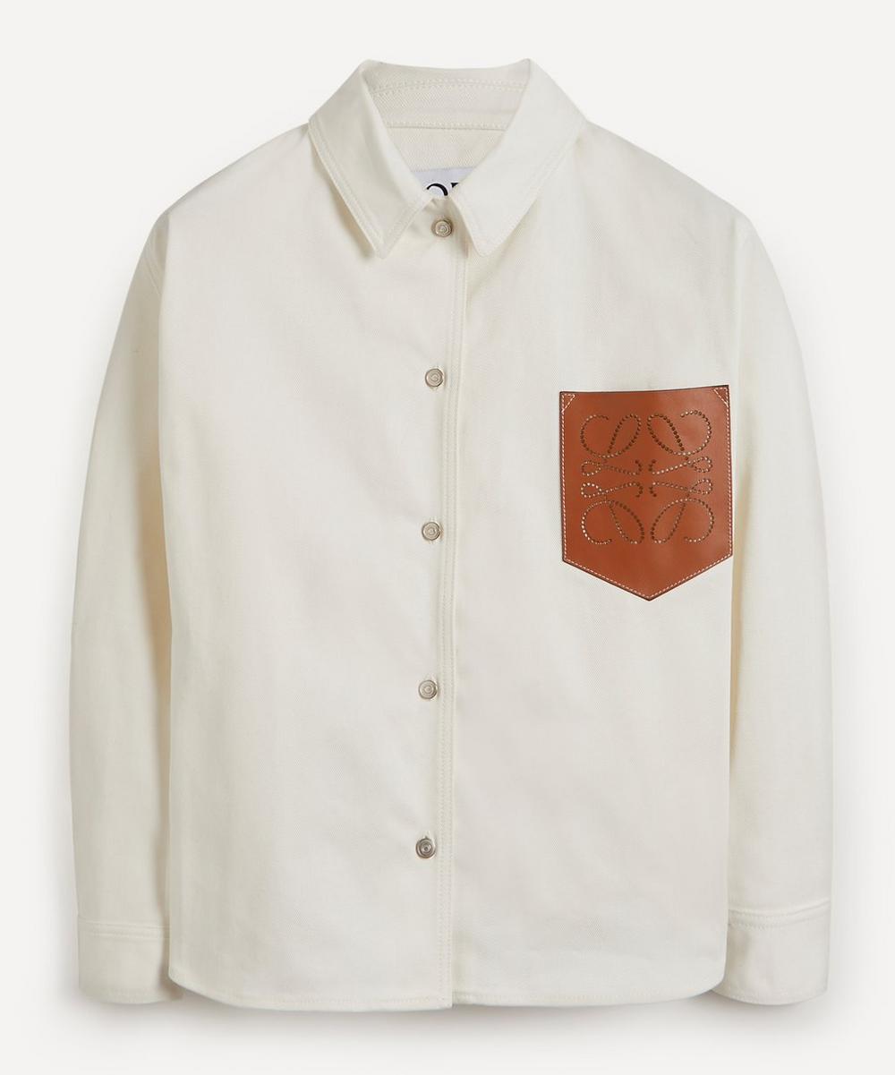 Loewe - Leather Pocket Denim Overshirt