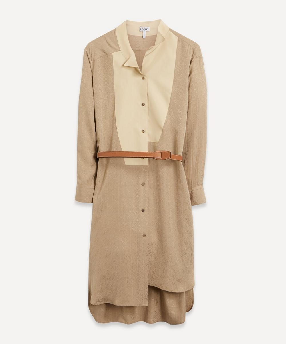 Loewe - Anagram Jacquard Shirt Dress