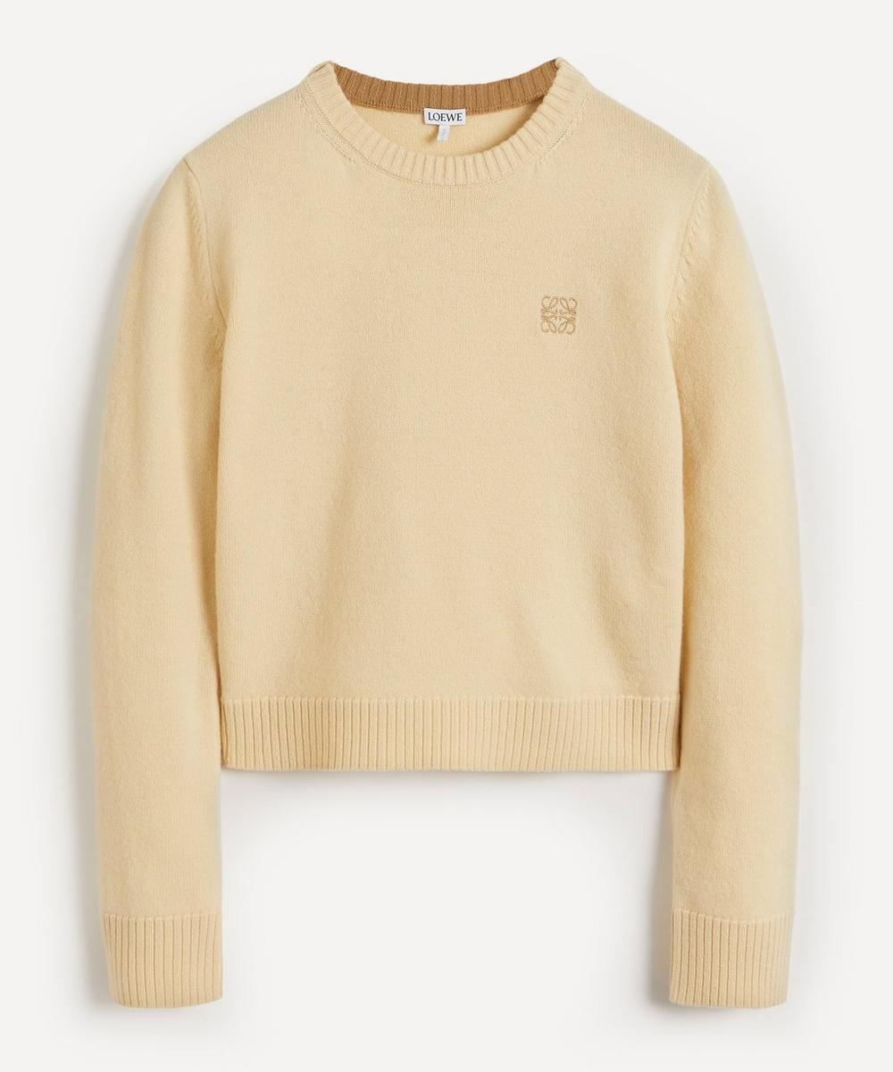 Loewe - Anagram Cropped Wool Knit
