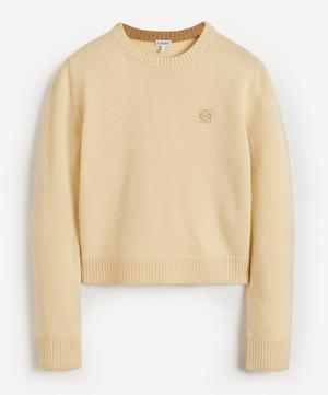 Anagram Cropped Wool Knit