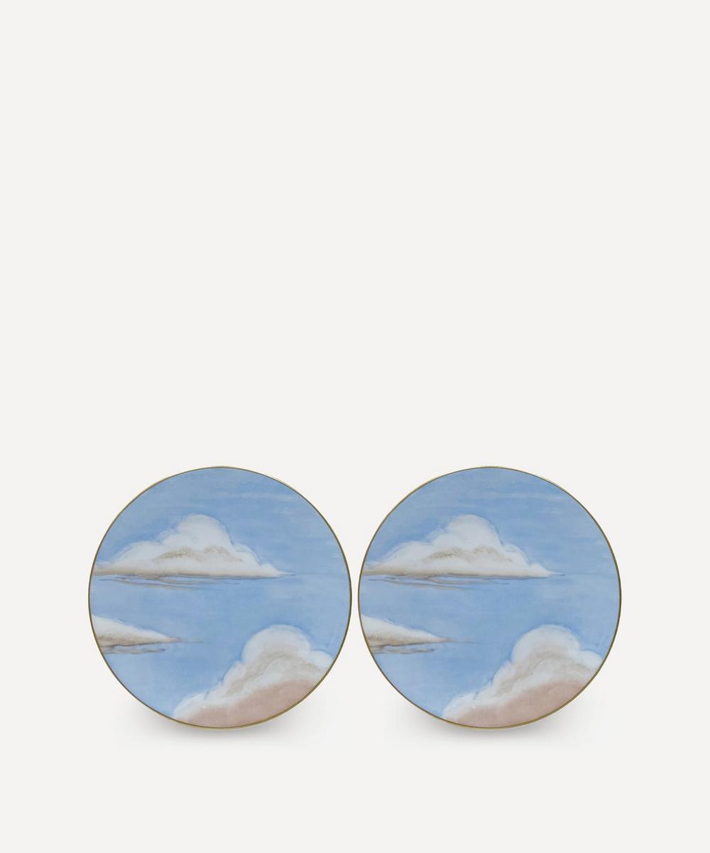Jonathan Hansen x Marie Daâge - Ciels Bleus Dessert Plates Set of Two