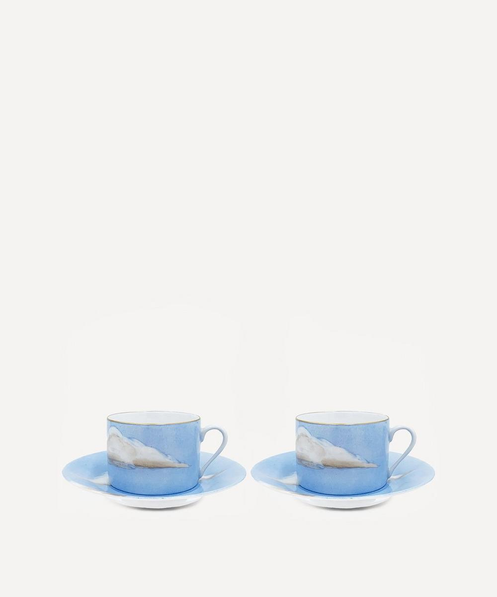 Jonathan Hansen x Marie Daâge - Ciels Bleus Teacup and Saucer Set of Two