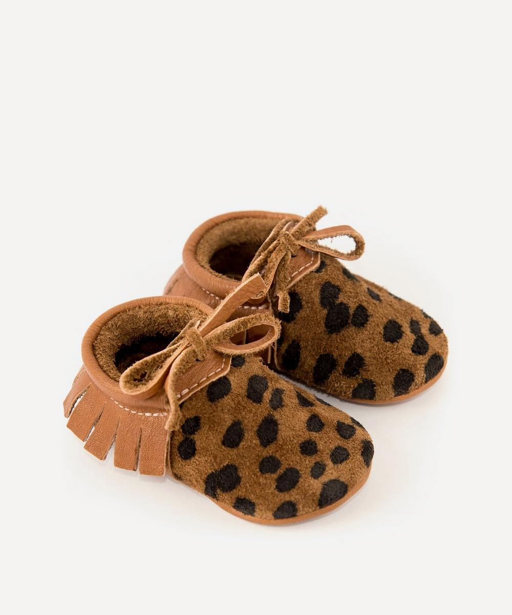 Amy & Ivor - Cheetah Moccasins 0-24 Months image number 0