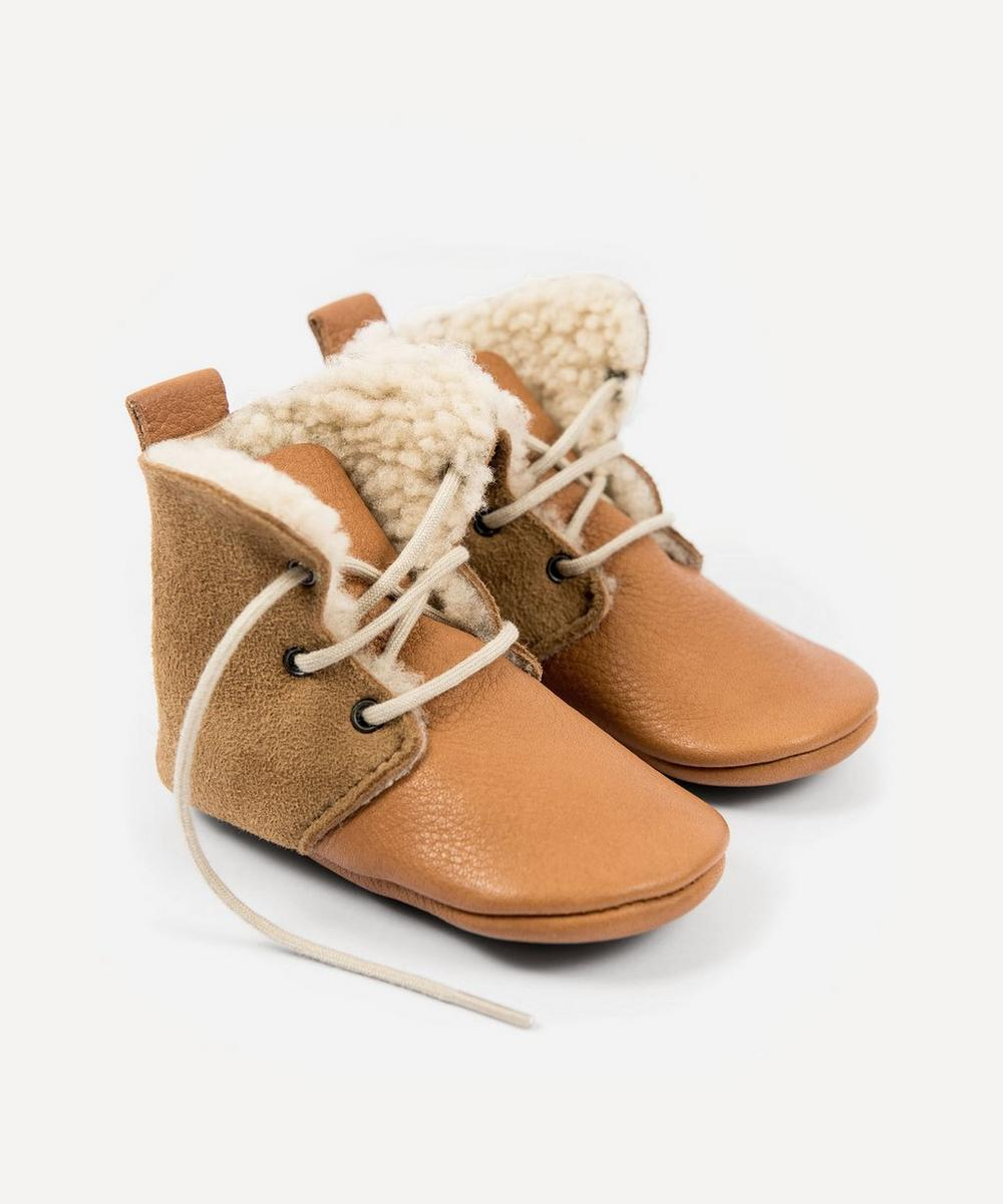 Amy & Ivor - Cinnamon Sheepskin High Tops 3-24 Months