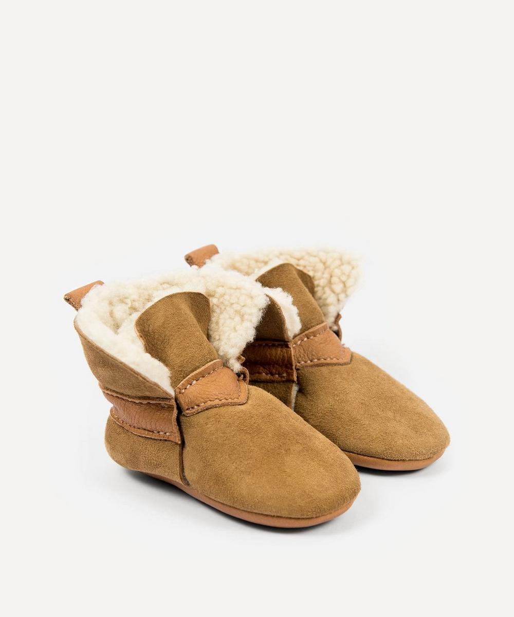 Amy & Ivor - Cinnamon Sheepskin Booties 3-24 Months