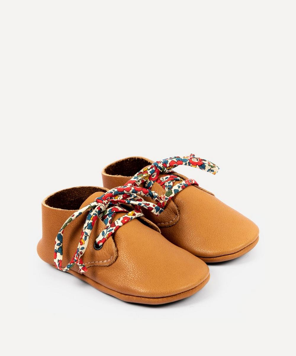 Amy & Ivor - Cinnamon Travellers with Liberty Print Laces 3-24 Months