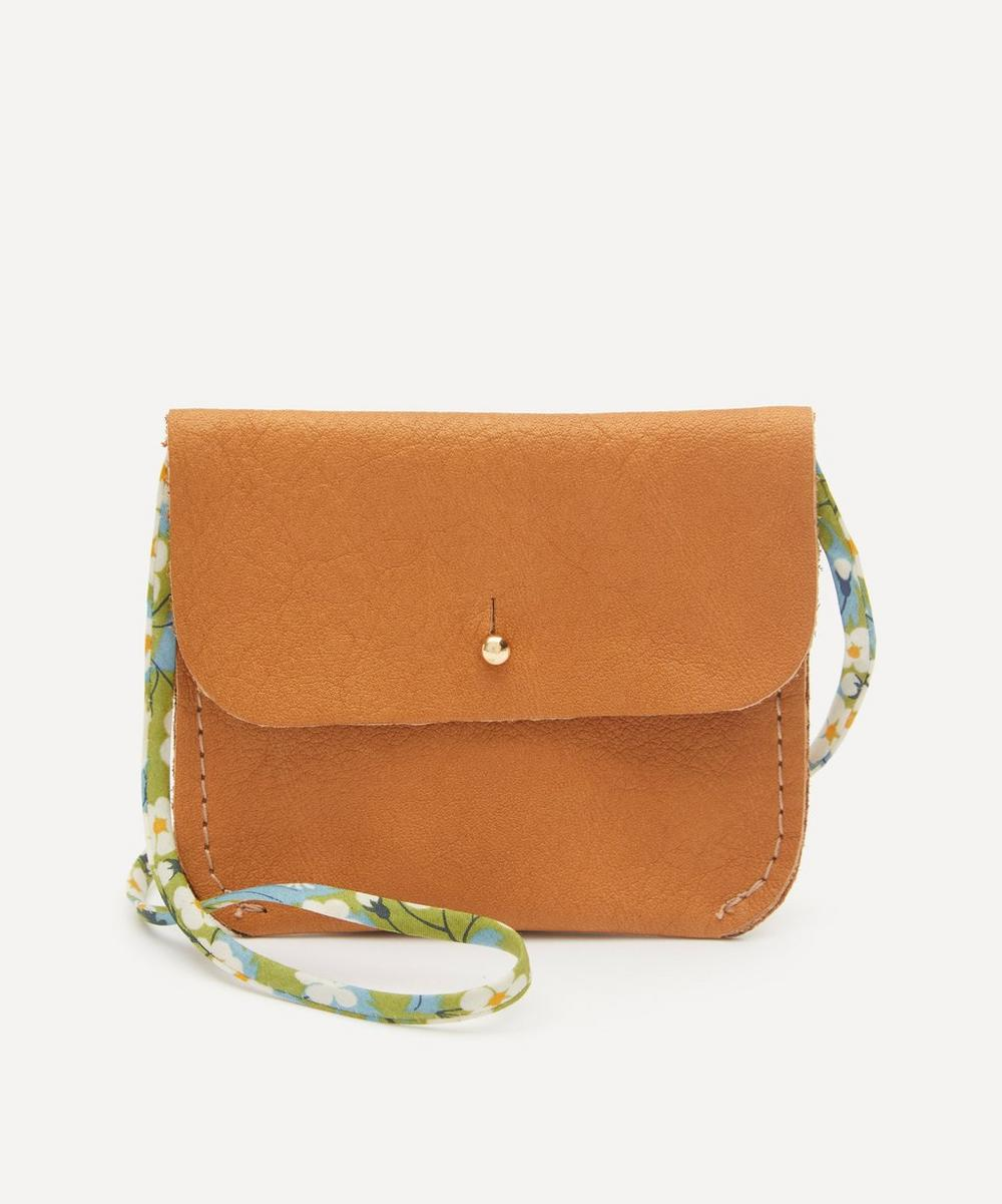 Amy & Ivor - Tan Purse with Liberty Print Strap