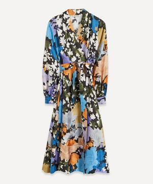 Reflection Silk Wrap-Dress