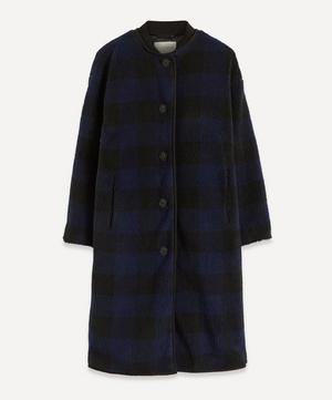 Beth Gingham Fleece Coat