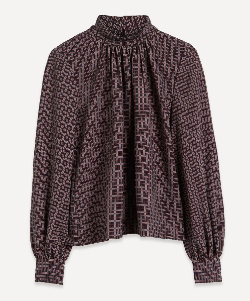 Stine Goya - Eddie High-Neck Check Blouse