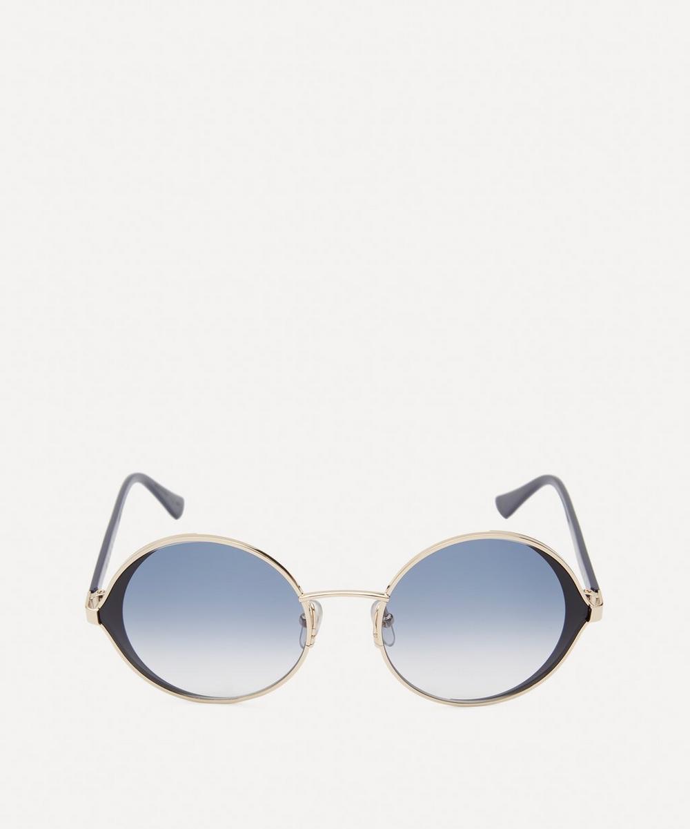 Marni - Metal Round Gradient Lens Sunglasses