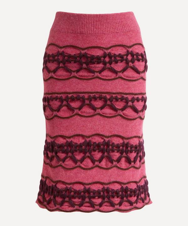 MOZH MOZH - Dust Cable Knit Skirt